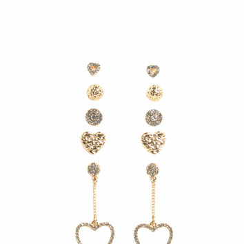 Have Some Heart 5-Pair Earring Set