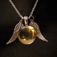 Hermione's Snitch Necklace by trophies on Etsy