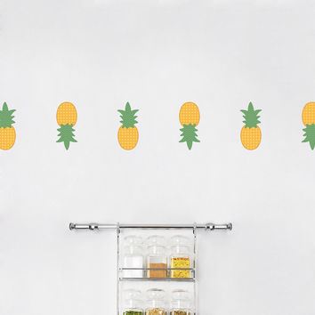 Mini Pineapples Printed Wall Decal