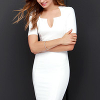 Why Not-ched Ivory Midi Dress