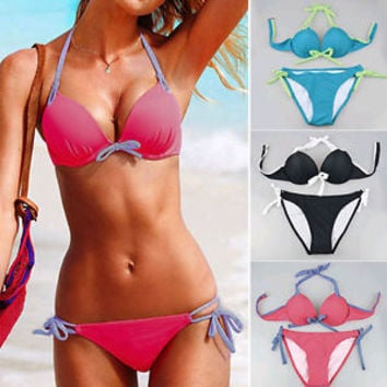 Sexy Fashion Women's SET Push-up Padded Bra Bikini Swimsuit Bathing Swimwear