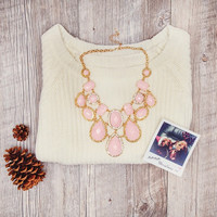 Solace Necklace Set - One Size / Pink