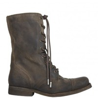 Shearling Suede Military Boot
