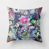 Flower carpet. Throw Pillow by Mary Berg