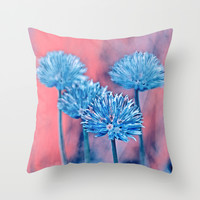 Wild flowers. Throw Pillow by Mary Berg