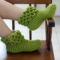 Crocodile Stitch Boots (Adult Sizes) - Crochet Pattern (PDF) - Permission to Sell Finished Items