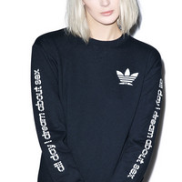 Petals and Peacocks All Day I dream About Sweatshirt Black