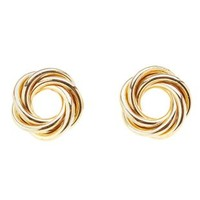 Infinity Knot Stud Earrings by Charlotte Russe - Gold