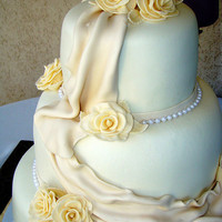 Draped wedding cake close up | Flickr - Photo Sharing!