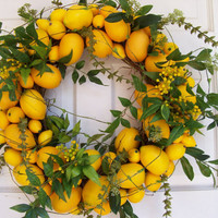 Lemon Lemon Wreath by DeLaFleur on Etsy