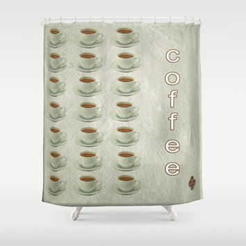Coffee Shower Curtain by LoRo  Art & Pictures