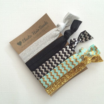 The Hope Hair Tie-Ponytail Holder Collection - 5 Elastic Hair Ties by Elastic Hair Bandz on Etsy