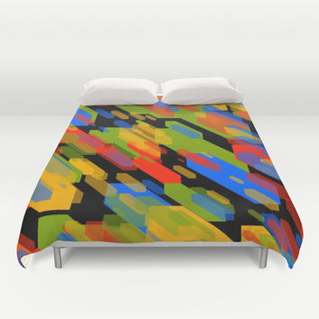 Colorful Shapes Duvet Cover by Laly_sb