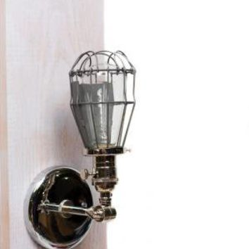 Caged Edison Adjustable Wall Sconce All Chrome | Junkyard Lighting