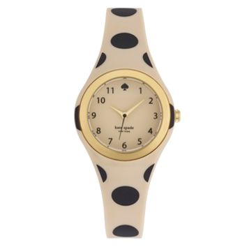 kate spade new york Rumsey Three-Hand Polka Dot Rubber Strap Watch at Von Maur