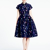 Kate Spade Balloon Fit And Flare Shirtdress