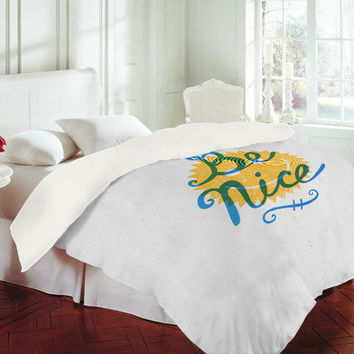Nick Nelson Be Nice Duvet Cover - Luxe Duvet Cover /