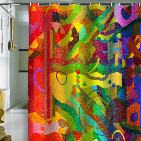 DENY Designs Home Accessories | Nick Nelson Future Patterns Shower Curtain