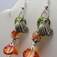 Fall Harvest Earrings by EveblueBeadery on Zibbet