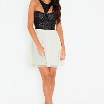 Missguided - Premium Sequin Cut Out Dress