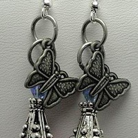 Butterfly Wishes Earrings  by EveblueBeadery on Zibbet