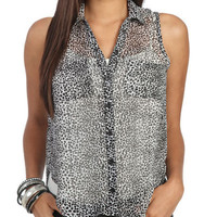 Sleeveless Animal Print Shirt | Shop New Tops Under $20 at Wet Seal