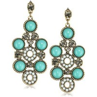Rachel Leigh Brass Plated Chandelier Earrings - designer shoes, handbags, jewelry, watches, and fashion accessories | endless.com