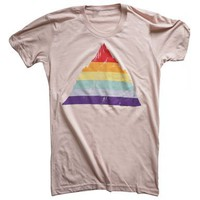 Unisex Rainbow Mountain T-Shirt : Revel & Riot LGBTQ merchandise and gay rights graphic t-shirts | Revel & Riot