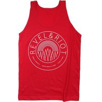 Unisex Revel & Riot Emblem Tank Top : Revel & Riot LGBTQ merchandise and gay rights graphic t-shirts | Revel & Riot