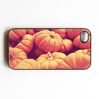 Iphone Case. Pumpkins. Halloween. Fall. Autumn. Orange. Black. Seasonal. Festive. Iphone 4 case. Iphone 4s case. October