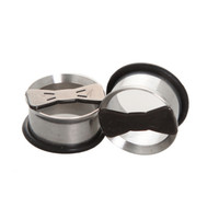 Morbid Metals Cut-Out Bow Tie Plug 2 Pack