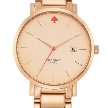 Women's kate spade new york 'gramercy grand' bracelet watch, 38mm - Rose Gold