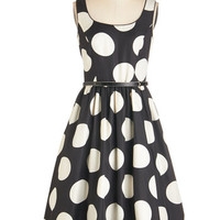 ModCloth Vintage Inspired Long Sleeveless Fit & Flare All Amour Reason Dress