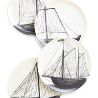 ModCloth Nautical Mainsail Course Plate Set