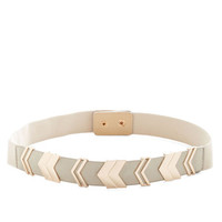 ModCloth Chevron the Right Path Belt in Taupe