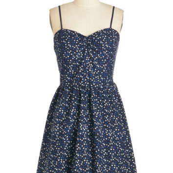 ModCloth Darling Mid-length Spaghetti Straps A-line Sunlit Stroll Dress