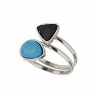 Twisted Stone Ring - Turquoise