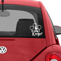 I&#x27;m a Keeper Quidditch Window Decal / Sticker