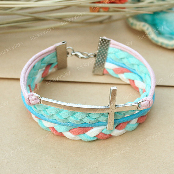 Bracelet-Cross bracelet-Fashion cross bracelet-Gift for girl friend or boy friend