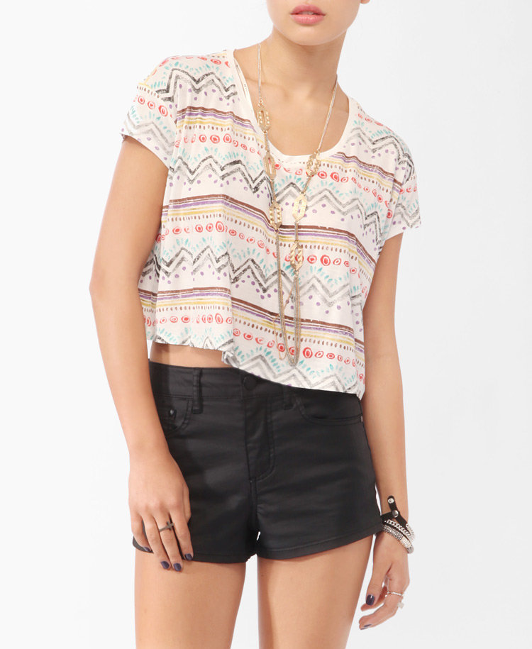 Distressed Tribal Print Tee