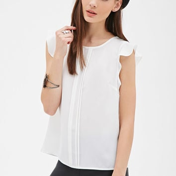 Pleated Woven Blouse