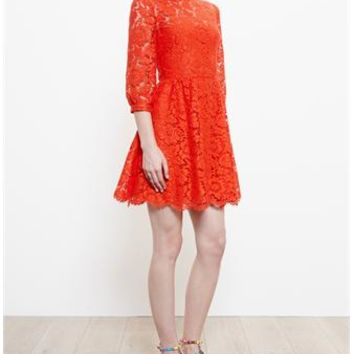 VALENTINO   Heavy Lace Dress   Browns fashion & designer clothes & clothing