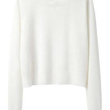 Cropped Merino Knit Pullover