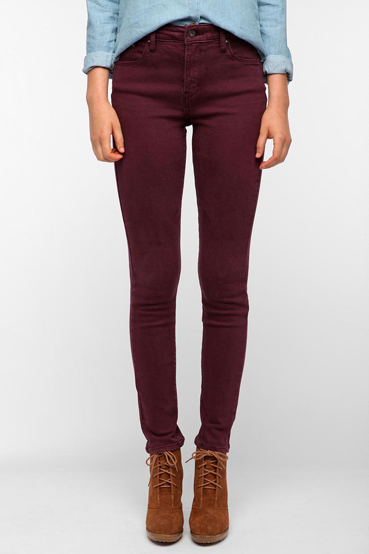 Levis Demi Curve High-Rise Skinny Jean - Wine