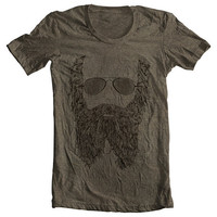Beard  Men's Women's Fashion Clothing No Shave T Shirt Tee American Apparel tshirt - Tri-Coffee (6 Colors) ctg