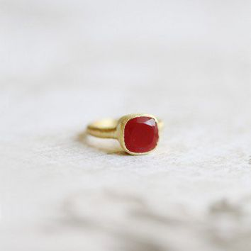 light of my life indie red stone ring at ShopRuche.com