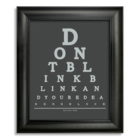 Doctor Who, Don&#x27;t Blink Blink And You&#x27;re Dead Good Luck Eye Chart, 8 x 10 Giclee Print BUY 2 GET 1 FREE