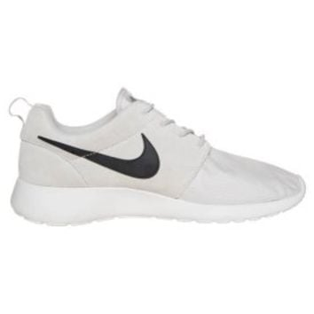Nike Sportswear ROSHE RUN SUEDE - Trainers - light ash grey/black/white - Zalando.co.uk
