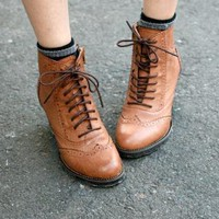 YESSTYLE: GUSET- Wing-Tip Oxford Boots - Free International Shipping on orders over $150