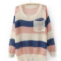 Product search_Colorful Rainbow Stripes Poket Sweater_udobuy - Fashion Dress with Free Shipping